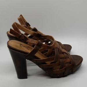 Decree Strappy Platform Chunky Heels Sandals